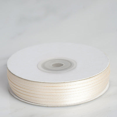 "100 Yards 1/16"" Ivory Single Face Satin Ribbon"