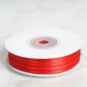 "100 Yards 1/16"" Red Single Face Satin Ribbon"