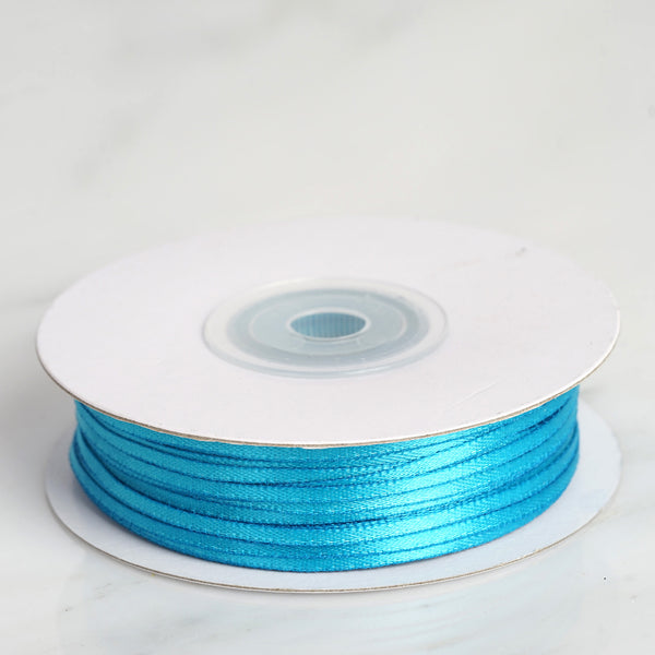 "100 Yards 1/16"" Turquoise Single Face Satin Ribbon - Clearance SALE"
