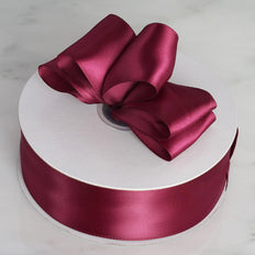 50 Yards |1.5 Inch Burgundy Satin Single Faced Ribbon Wholesale | TableclothsFactory