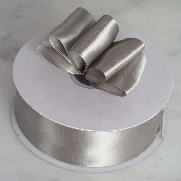 "50 Yards 1.5"" DIY Silver Satin Ribbon"