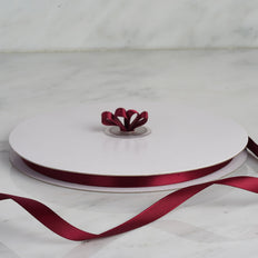 "100 Yards 3/8"" Burgundy Decorative Satin Ribbon"