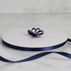 "100 Yards 3/8"" Navy Blue Decorative Satin Ribbon"