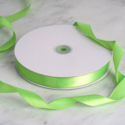 "100 Yards 7/8"" Apple Green Satin Ribbon"
