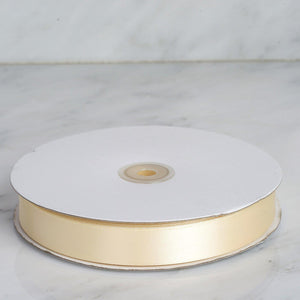 "100 Yards 7/8"" Ivory Satin Ribbon"