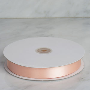 "100 Yards 7/8"" Peach Satin Ribbon"