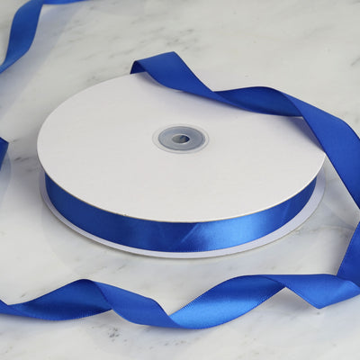 "100 Yards 7/8"" Royal Blue Satin Ribbon"