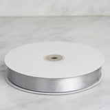 "100 Yards 7/8"" Silver Satin Ribbon"