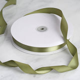 "100 Yards 7/8"" Moss Green Satin Ribbon"