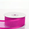 "25 Yards 1.5"" Fushia Organza Ribbon With Satin Edges"