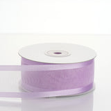 "25 Yards 1.5"" Lavender Organza Ribbon With Satin Edges"