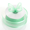 "25 Yard 1.5"" DIY Mint Organza Ribbon With Satin Edges"