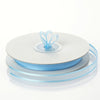 "25 Yards 3/8"" Baby Blue Organza Ribbon with Satin Edge"