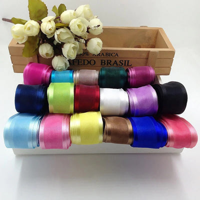 25 Yard | 7/8 Inch Organza Ribbon With Satin Edges | TableclothsFactory
