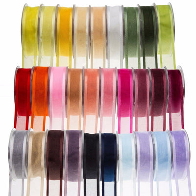 "25 Yard 7/8"" DIY Serenity Organza Ribbon With Satin Edges"