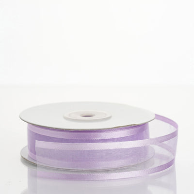 25 Yard | 7/8 Inch Organza Ribbon With Satin Edges | TableclothsFactory#whtbkgd
