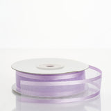 "25 Yard 7/8"" DIY Lavender Organza Ribbon With Satin Edges"
