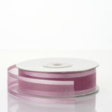 "25 Yard 7/8"" DIY Rose Quartz Organza Ribbon With Satin Edges"