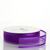 "25 Yard 7/8"" DIY Purple Organza Ribbon With Satin Edges"