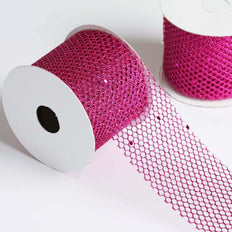 10 Yards | 2.5 Inch | DIY Glittery Deco Mesh Ribbons | TableclothsFactory