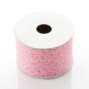 "10 Yards 2"" DIY Pink Deco Mesh Ribbons"