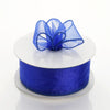 "10 Yards 1.5"" Royal Blue Wired Edge Organza Ribbon"