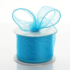 10 Yards | 2.5 Inch Wired Edge Organza Ribbon | TableclothsFactory#whtbkgd