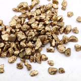 Pack of 2 Lbs | Metallic Gold Decorative Crushed Gravel | Pebble Stone Vase Fillers