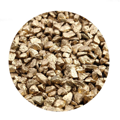 Pack of 2 Lbs | Metallic Gold | Decorative Crushed Gravel Pebble Stone Vase Fillers