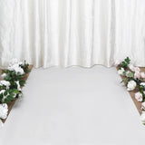"40"" x 100ft White PVC Aisle Runner"