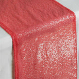 Coral Premium Sequin Table Runners - Table Top Wedding Catering Party Decorations - 108x12""
