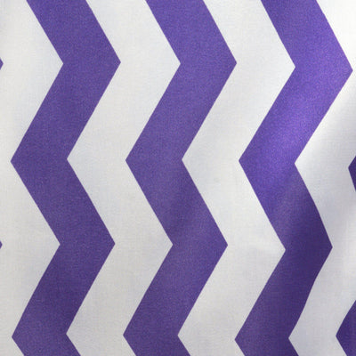 Jazzed Up Chevron Table Runners - White / Purple