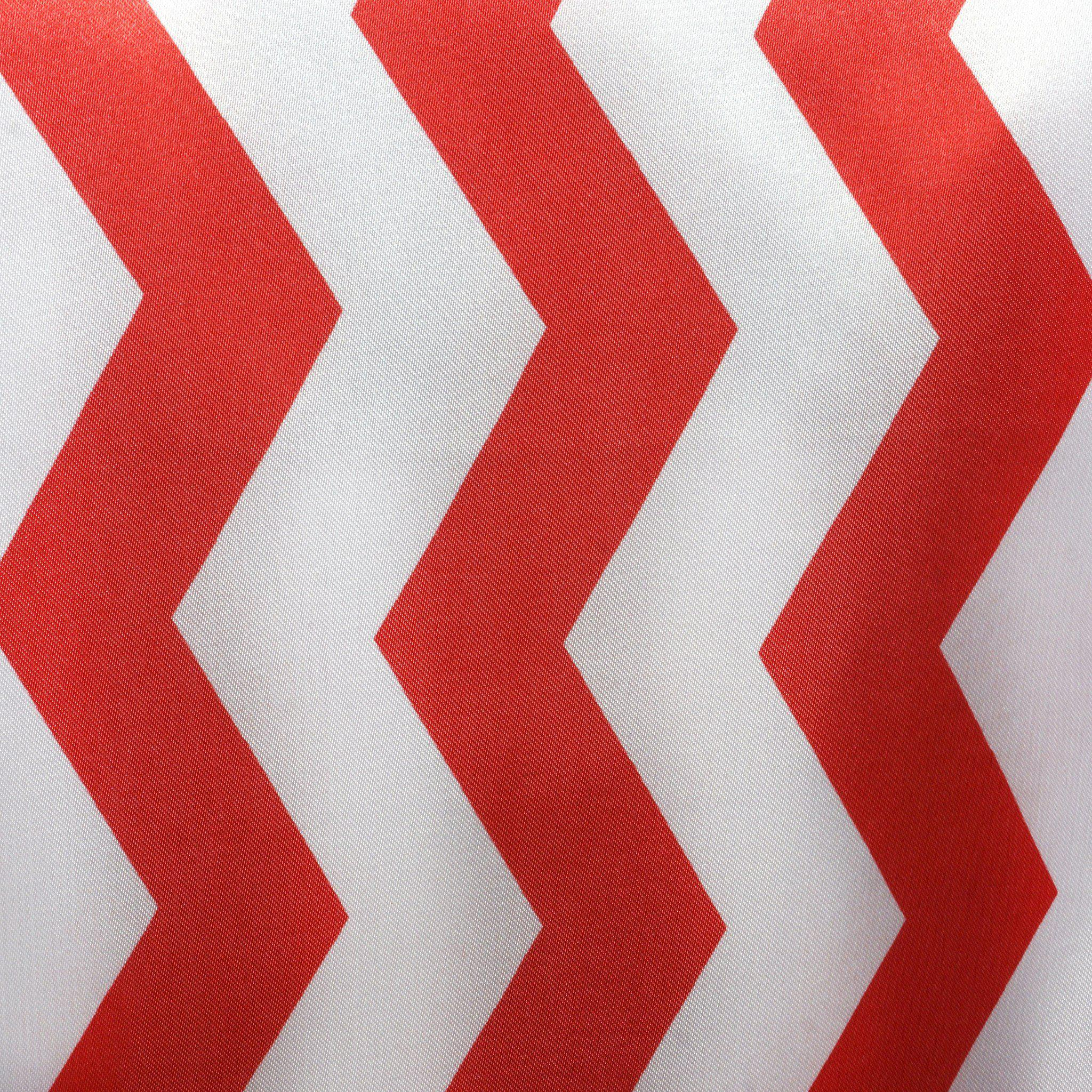 Redwhite Chevron Satin Table Runner Tablecloths Factory