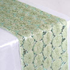 Wholesale Reseda Tulle Table Runner With Sequin Design Party Wedding Tabletop Decoration