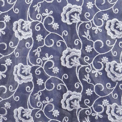 Angelic Carnations Motif Runner-White