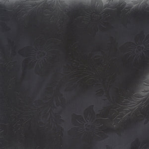 Lily Embossed Satin Table Runner - Black