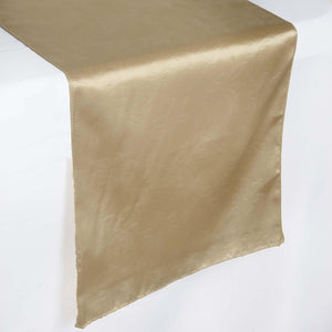 Lily Embossed Satin Table Runner - Champagne