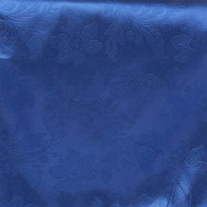 Lily Embossed Satin Table Runner - Royal Blue