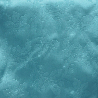 Lily Embossed Satin Table Runner - Turquoise