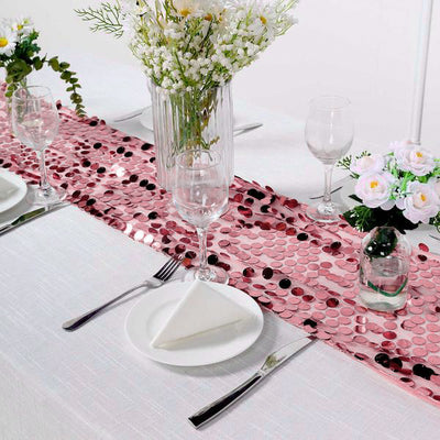 13x108inches Big Sequin Runners Pink Payette Table Runners