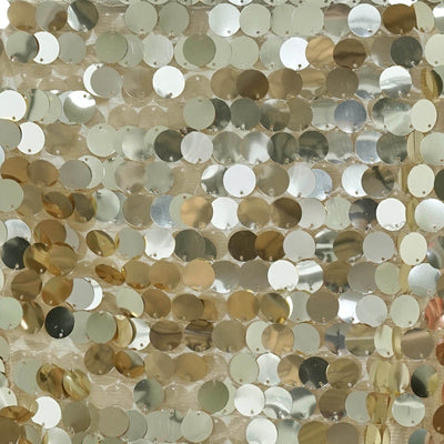 "13""x108"" Champagne Premium Payette Sequin Table Top Runners"