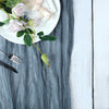 10FT Dusty Blue Cheesecloth Table Runner, Gauze Fabric Boho Wedding Arbor Decor