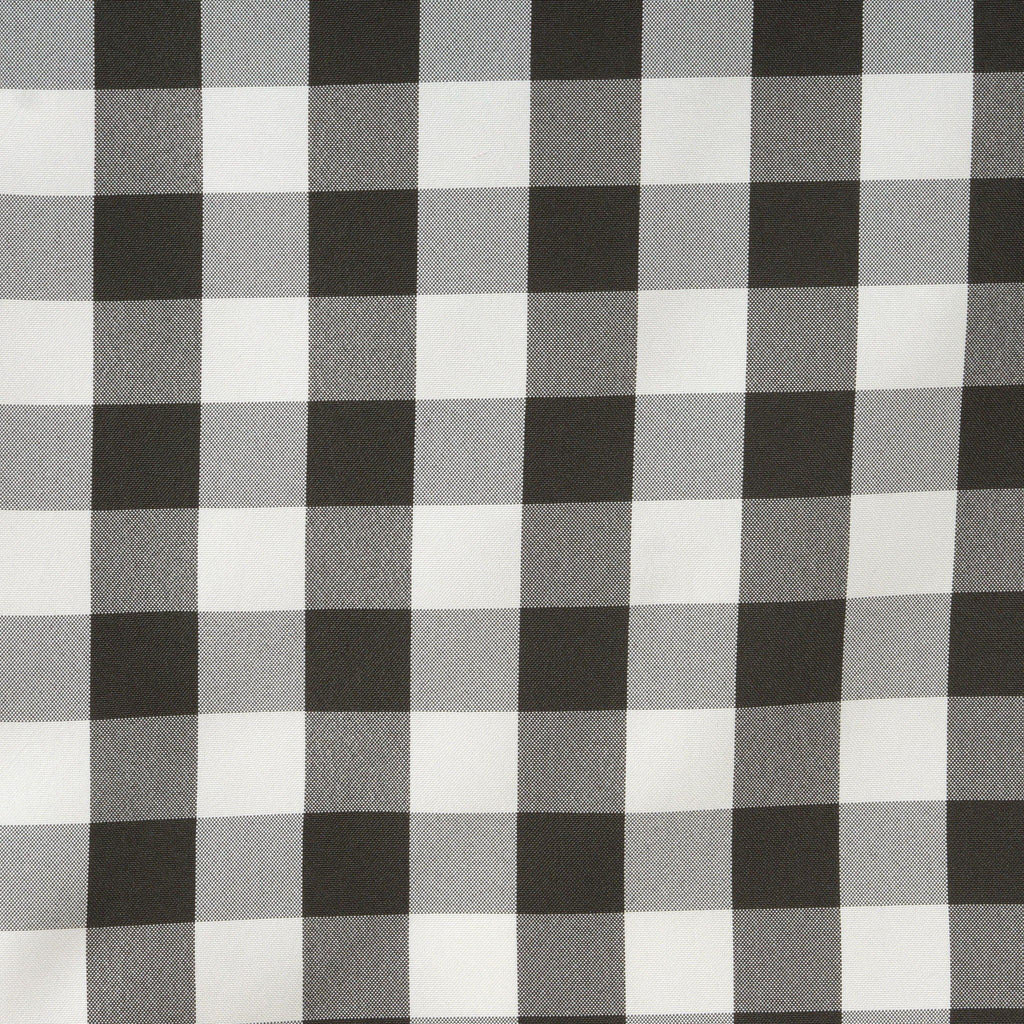 Black White Wholesale Gingham Polyester Dinner Table