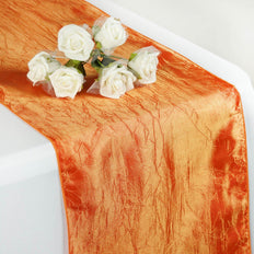 Orange Crinkle Crushed Taffeta Table Runner
