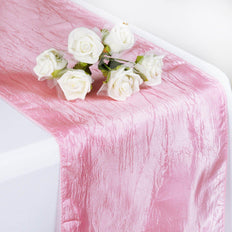Table Runner Taffeta Crinkle - Pink