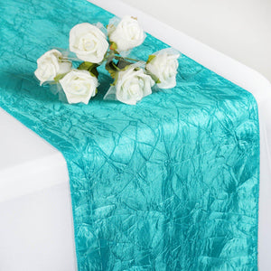 Turquoise Crinkle Crushed Taffeta Table Runner