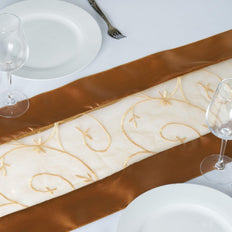 Table Runner Embroider - Gold