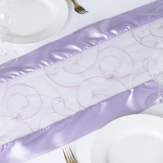 Table Runner Embroider - Lavender
