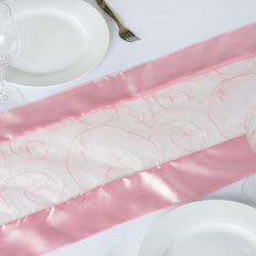Table Runner Embroider - Pink