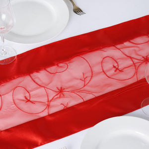Table Runner Embroider - Red